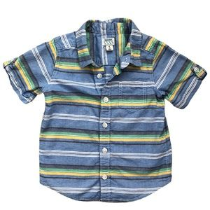 Old Navy Striped Short Sleeve Button Up Shirt 4T